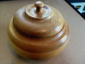 Hand-Turned-Wood-Bowl-With-Cover-Four-Kinds-Of-Wood