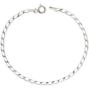 Sterling Silver 3.8mm Italian Long Link Curb Chain Necklace or Bracelet