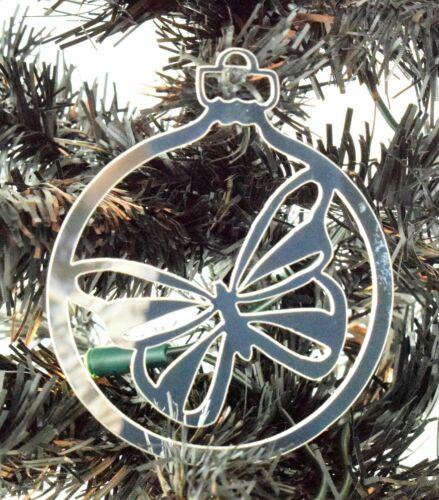 100 mm t Miroir Acrylique Papillon babiole arbre de Noël Décoration Cadeau