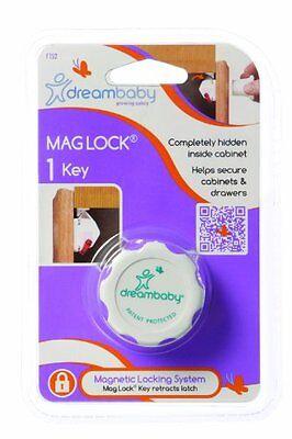 1 Key white Discreet Dreambaby Mag Lock