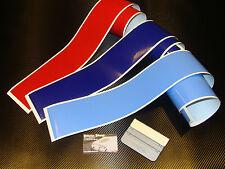 3 bandes / strip decal motorsport colors 90mm BMW M3 M5 M6 stickers pegatinas