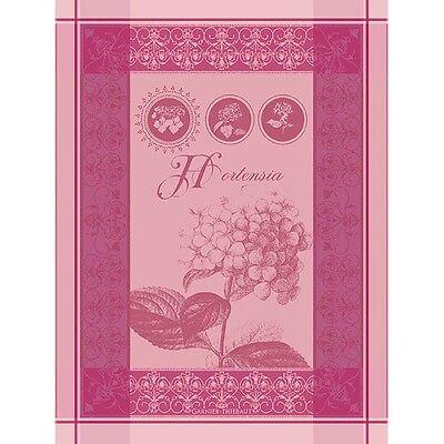 Garnier Thiebaut French Kitchen Tea Dish Towel HORTENSIA ROSE Hydrangea NEW 2017