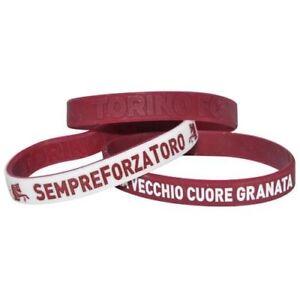 Set-3-braccialetti-Ufficiali-Torino-Toro-Granata-Forza-Toro-silicone-1-per-tipo