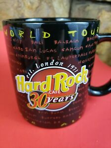 Hard-Rock-Cafe-30-Year-World-Tour-Large-Drinking-Coffee-Mug-Cup-Preowned