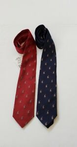 NWT-Polo-Ralph-Lauren-Mens-Hand-Made-In-Italy-ALL-OVER-PONY-Silk-Neck-Tie-A
