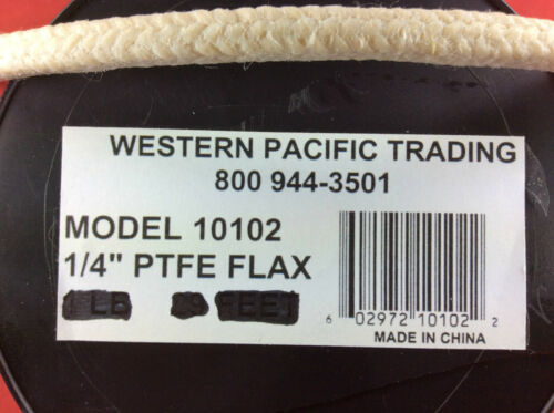 """SHAFT PACKING TEFLON BOAT STUFFING BOX 1//4/"""" BY THE FOOT"""