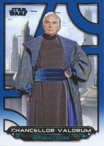 Valorum Star Wars Galactic Files Reborn Blue Parallel Base Card TPM-18 Chan