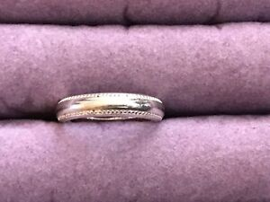 Image Is Loading Ross Simons Sterling Silver 925 Wedding Band Size