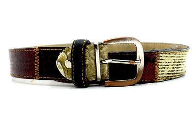 Costruttivo Greis Pel Italiano Da Uomo Cintura In Pelle Patchwork Multi Colore Misura 36-mostra Il Titolo Originale Bianco Puro E Traslucido