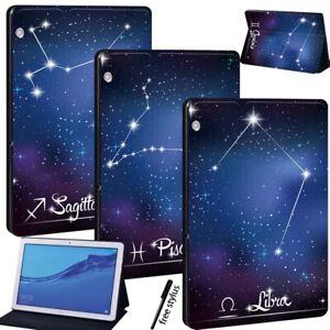 Para-Huawei-MediaPad-T3-8-0-T3-10-T5-10-in-Tableta-signo-Estuche-con-Funda-y-base-de-cuero