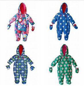 Newborn Infant Baby Girls Boys Unsexy Winter Warn Snowsuit ...