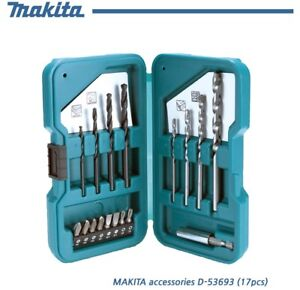 Details about Makita multi-bit set D-53693, 17 types of drill bits for each  application