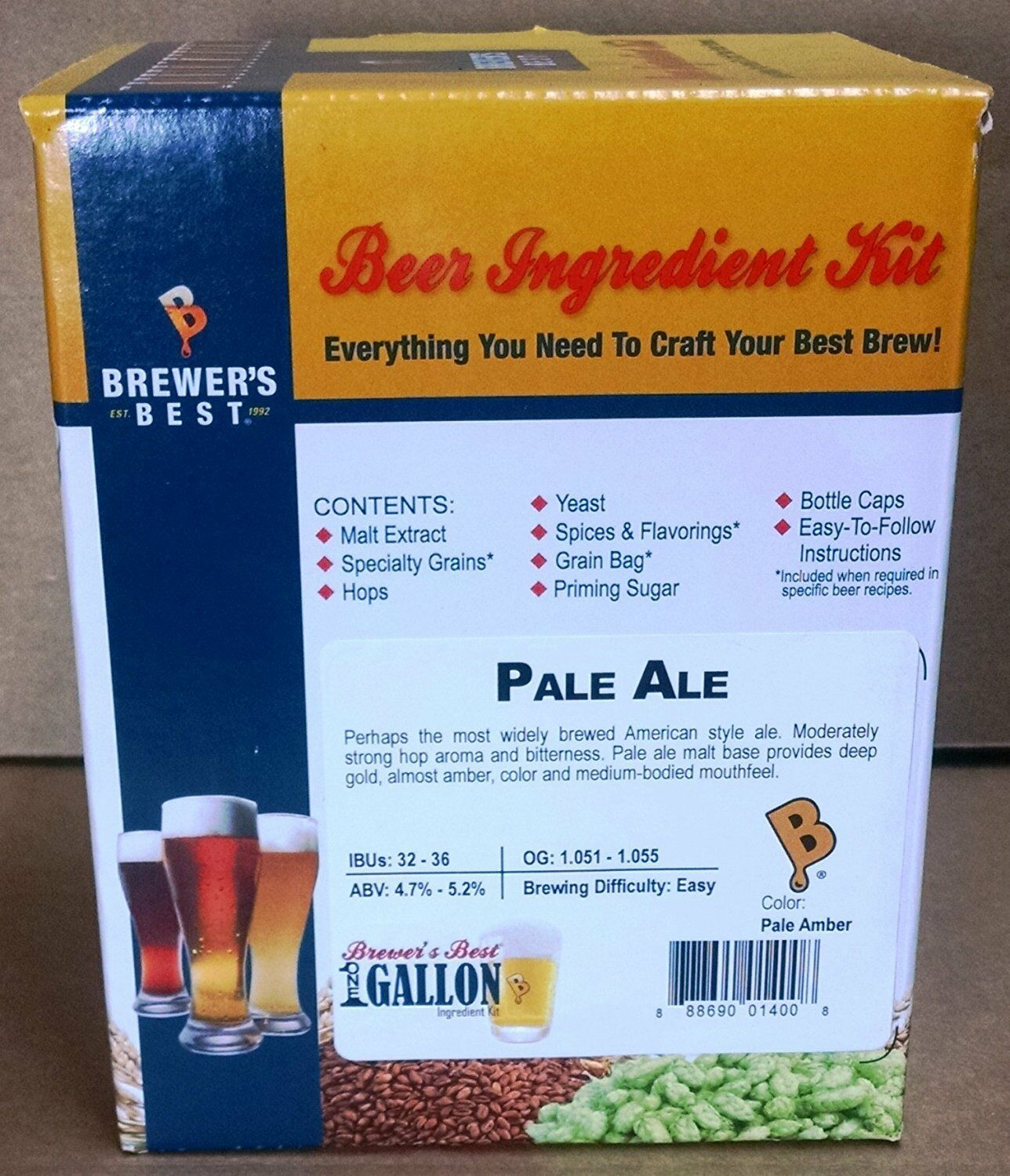 Brewer's Best One Gallon Home Brew Beer Ingredient Kit (Pale Ale) 2