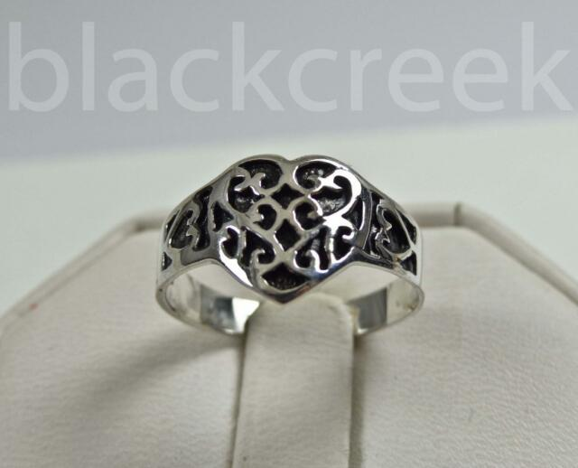 925 Sterling Silver~Lady's Celtic Heart Knot Design Ring ~ Size 5/6/7/8/9/10