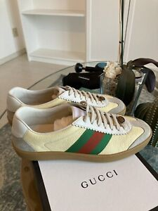 GUCCI JBG Sneakers Leather Size 8 Euro