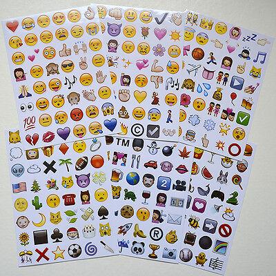 New Lovely 48 Die Cut Emoji Face Vinyl Sticker for Phone Tablet Laptop Decor