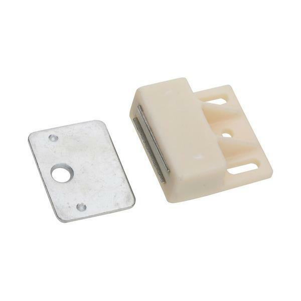 25 Pk Weiß Nylon WIth Steel Cabinet Door Magnetic Catch Latch N149823