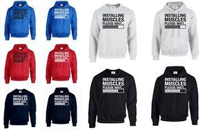 Installation-de-muscles-fit-Jumper-Sweat-gymwear-corps-Builder-poids-muscles