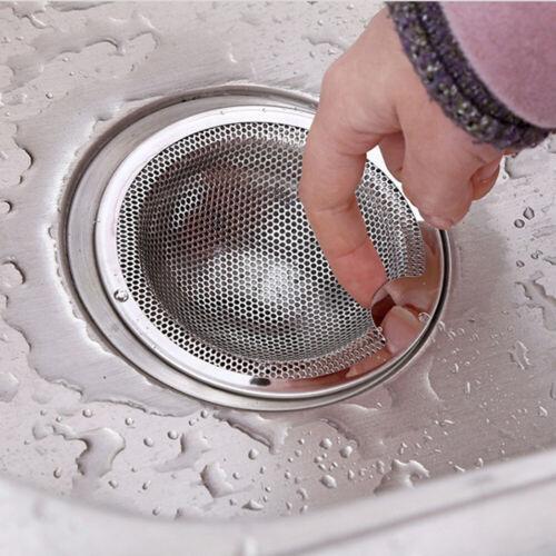 New Shower Waste Stopper Sink Strainer Trap Mesh Drain Filter Stainless Steel