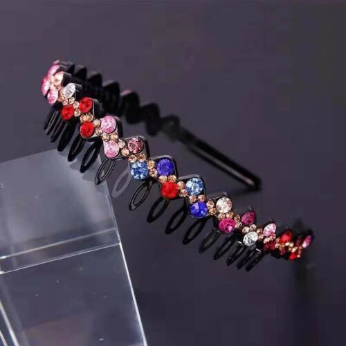 Women/'s Crystal Rhinestone Headband Fashion Hair Hoop Hairband Hair Accessories