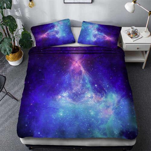 Light Of Milky Way 3D Quilt Duvet Doona Cover Set Single Double Queen King Print