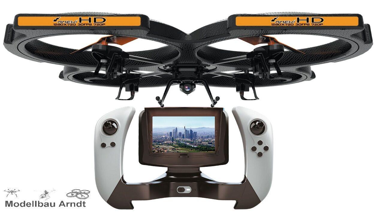 RC Drone Quadrocopter al x51 FPV con Live immagine in HD incl. BATTERIA NUOVO