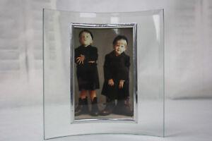 Fotorahmen-Glas-gebogen-Bilderrahmen-10x15-13x18-15x20-Gold-Silber-Quer-Hoch