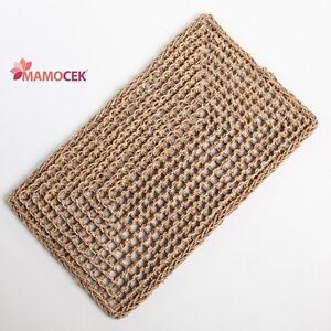 ZERBINO tappeto naturale corda erba cm.51x84 ingresso porta da decorare rettango