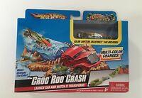 Mattel Hot Wheels Color Shifters Creatures Croc Rod Crash Launch Set & Car