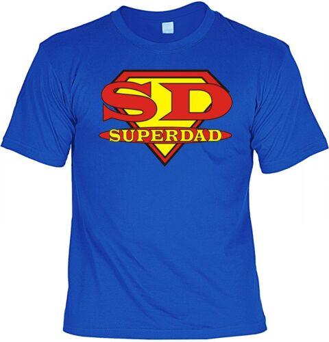T-Shirt SD Superdad Minishirt lustig Papa Vater Geschenk Geburtstag Vatertag