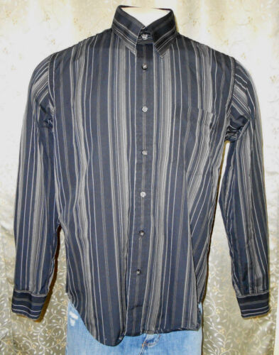 7 Diamonds men's black/gray stripped long sleeve c