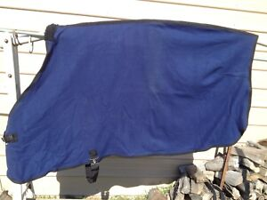 "Small 68 - 70"" Navy blue blanket liner / cooler w/surcingle & front buckle"