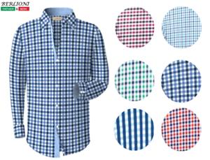 Berlioni-Men-039-s-French-Cuff-Yarn-Dyed-Dress-Shirt-Standard-Fit