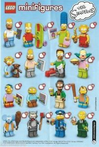 LEGO MINIFIGURES 71005 The Simpsons Series 1 Singles MR. BURNS Chief Wiggum