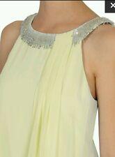 Coast * MADDIE * FRANGE GIALLO dress size 10 Nuovo con etichette