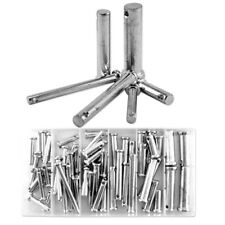 New 60pc Clevis Pin With Head Assortment 21 Different Sizes In Storage Case Kit