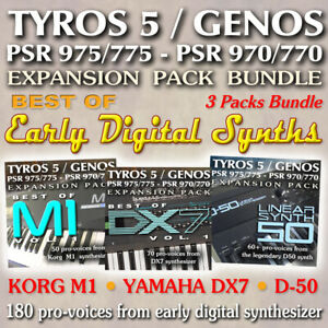 Details about EARLY DIGITAL SYNTHS - Bundle Expansion Pack for Yamaha  (Genos-Tyros 5-PSR 975)