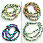 Wholesale Rondelle Faceted Crystal Glass Loose Spacer Beads 3mm4mm6mm8mm10mm