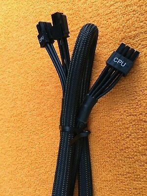 CPU Power Supply Cable,Original black 3 EVGA SuperNOVA 8 PIN TO 8 pin 4+4