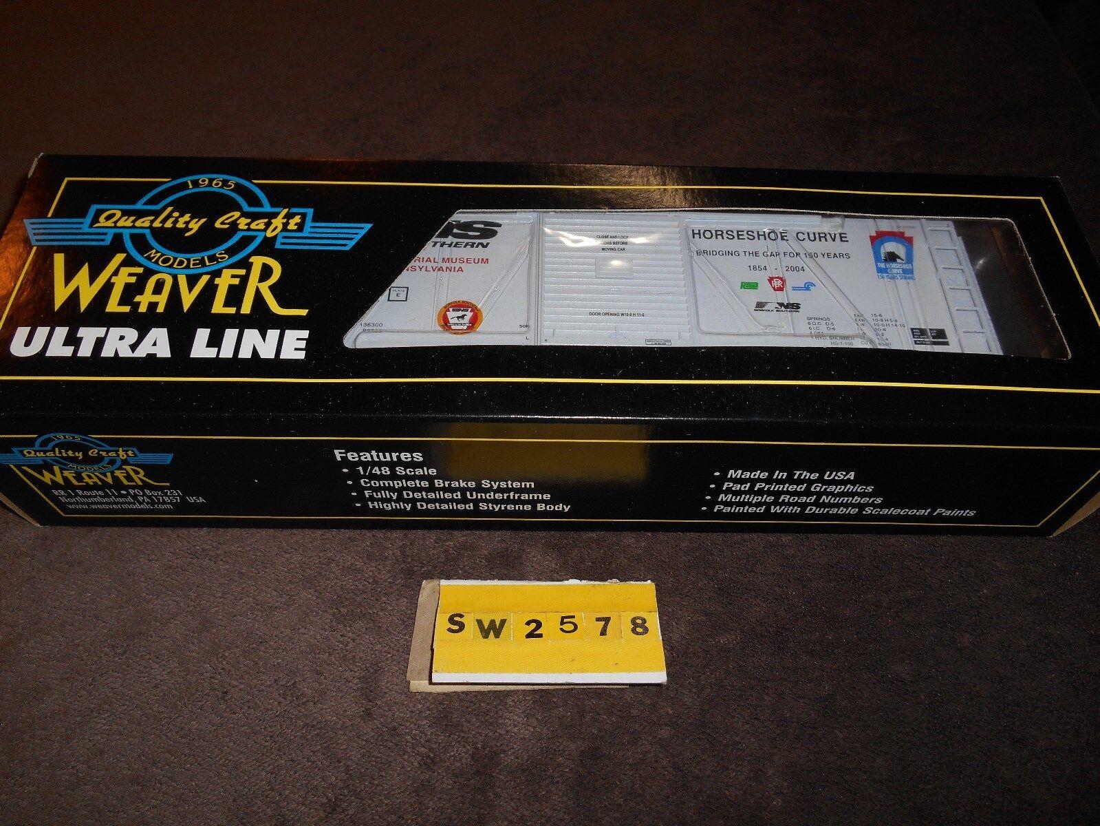 WEAVER'S HORSEHOE CURVE PS1, 40' ALTOONA RR MUSEUM scatola auto, BRe nuovo