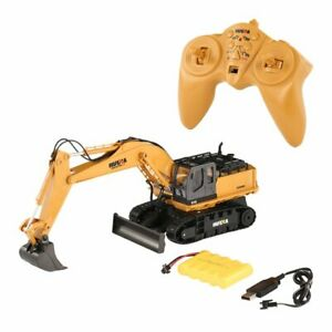 HUINA-TOYS-1510-2-4G-1-16-11CH-Alloy-RC-Excavator-Truck-Sound-680-Rotation-XMAS