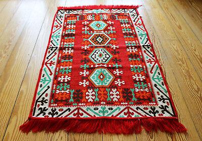 70x110 Cm Tappeto Orientale, Carpet, Matte, Kelim In Damaskunst S 1-2-3 Abbiamo Vinto L'Elogio Dai Clienti