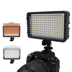 Mcoplus Led 130 Luz De Vídeo Cámara Comcorder Iluminación Lámpara Para Canon Nikon Sony Ebay