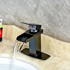 Single Handle Waterfall Bathroom Faucet Senlesen Bronze Black Waterfall Spout