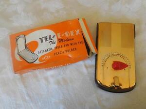 Tel E DEX Vintage Phone Number index pad NEW in Box MID CENTURY Modern Addresses