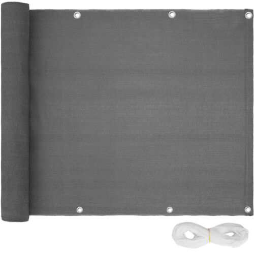 Balkon Sichtschutz Balkonverkleidung Windschutz Zaun Sichtblende 600x75cm Grau