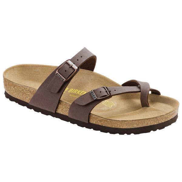 Birkenstock Mayari Birko-Flor Nubuk Schuhe mocca 071061 Pantoletten Weite normal