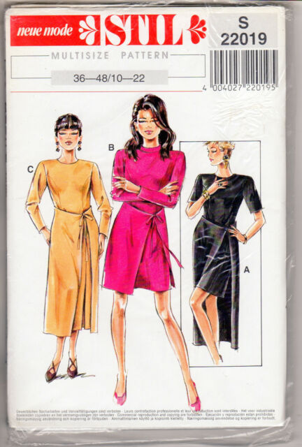 NEW Neue Mode STIL Sewing Pattern #S 22019 Misses' Dresses in Sizes 10 22