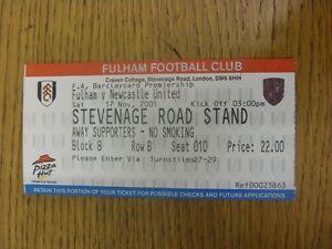 17-11-2001-Ticket-Fulham-v-Newcastle-United-folded-Footy-Progs-Bobfrankande