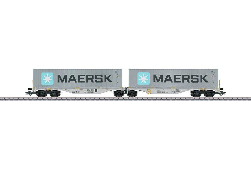 Märklin 47803 Doppel-Containertragwagen Bauart Sggrss 80 Neuware